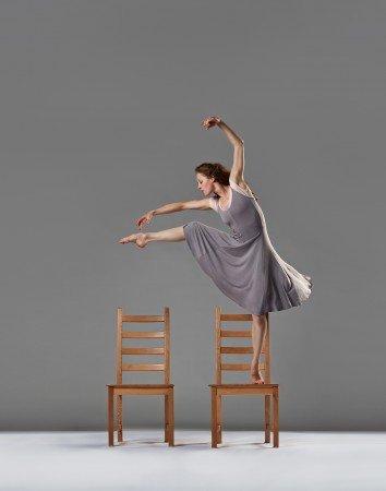 "Laura Halm of Chamber Dance Company in Zvi Gotheiner's ""Chairs"" Photo Steve Korn"