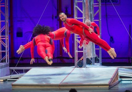 "STREB Extreme Action dances in ""AIRSLICE"" Photo Stephanie Berger"