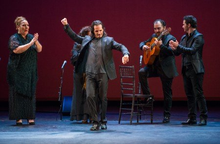 "Farruquito, with musicians and vocalists in ""Mi Soledad (Solea)"" Photo Stephanie Berger"