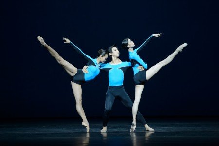 "Hong Kong Ballet dancers in Jorma Elo's ""Shape of Glow"" Photo courtesy of New York City Center"