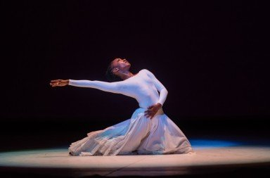 "Demetia Hopkins-Greene  of Alvin Ailey American Dance Theater  in ""Cry"", choreographed by Alvin Ailey        Photo Stephanie Berger"