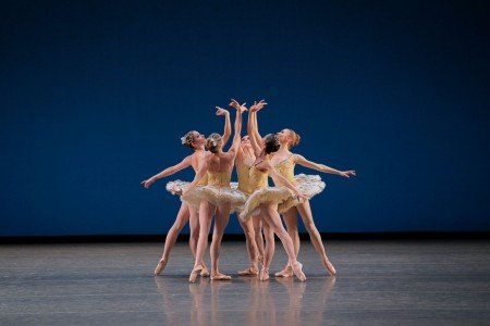 "New York City Ballet dancers in George Balanchine's ""Divertimento No. 15"" Photo Paul Kolnik"