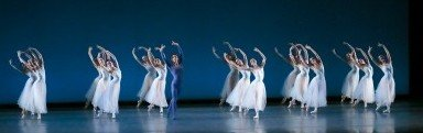 "Oregon Ballet Theatre dancers in George Balanchine's ""Serenade""                               Photo Emily Nash."
