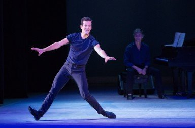 Robert Fairchild with Damian Woetzel, photo by Teresa  Wood