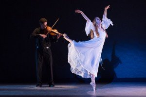Carla Korbes in George Balanchine's Elegie, photo by Teresa Wood