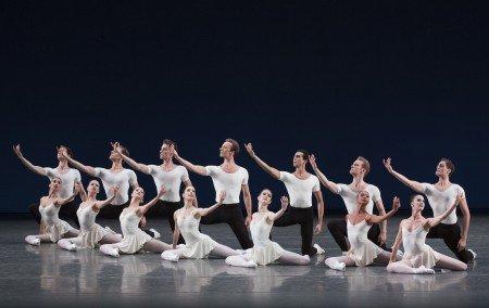 "New York City Ballet dancers in George Balanchine's ""Monumentum Pro Gesualdo"" Photo Paul Kolnik"