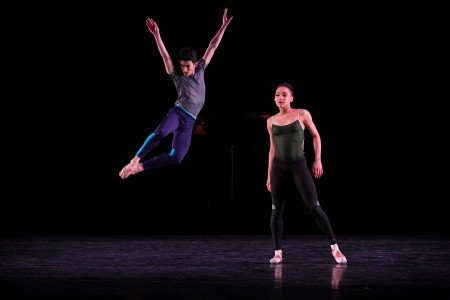 "BalletCollective dancers Anthony Huxley and Rachel Hutsell in Troy Schumacher's ""The Answer"" Photo Whitney Browne"