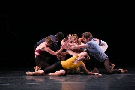 """BalletCollective dancers in Troy Schumacher's """"Until the Walls Cave In"""" Photo Whitney Browne"""
