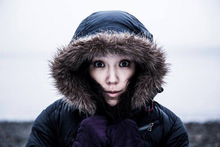 "Alana O Rogers Dance Company dancer Mariko Nagashima in Alana O'Farrell Rogers's ""Into Ice"" Photo WittyPixel"