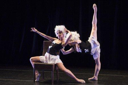 "Neville Dance Theatre dancers Michelle Siegel and Amanda Summers in Ursula Verduzco's ""Epidermis"" Photo Yi-Chun Wu"