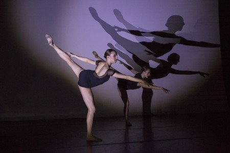 "Neville Dance Theatre dancers Dona Wiley and Alexis Borth in Brenda R. Neville's ""Exposed"" Photo Yi-Chun Wu"