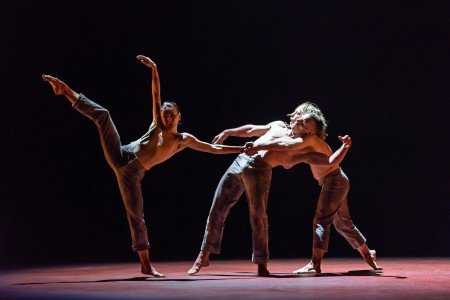 "Natalia Osipova, Jason Kittelberger, and James O'Hara in Sidi Larbi Cherkaoui's ""Qutb"" Photo Bill Cooper"