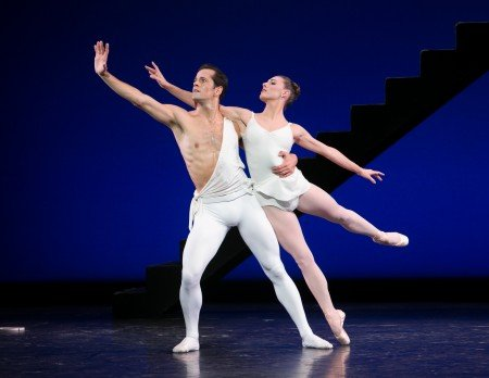 "Tiler Peck and Robert Fairchild in George Balanchine's ""Apollo"" at Vail ReMix NYC Festival Photo Erin Baiano"