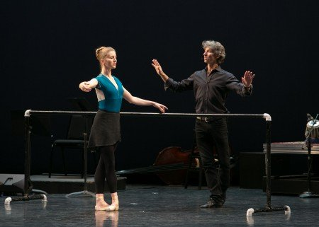 Carla Korbes and Damian Woetzel at the  Vail ReMix NYC Festival's Upclose: Footwork program Photo Erin Baiano