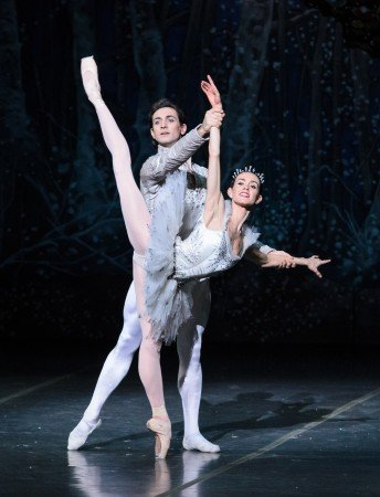 "Boston Ballet dancers Petra Conti and Eris Nezha in Mikko Nissinen's ""The Nutcracker"" Photo Liza Voll"