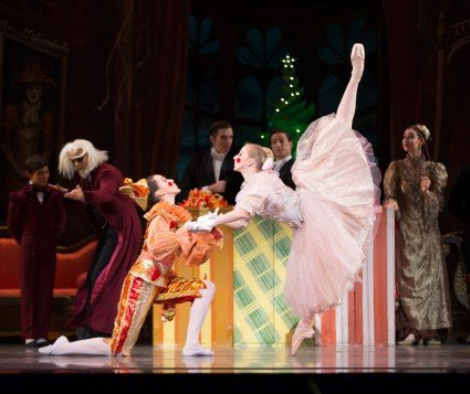 "Oregon Ballet Theatre dancers (l-r) Emily Parker and Jessica Lind in ""George Balanchine's 'The Nutcracker'"" Photo by James McGrew"