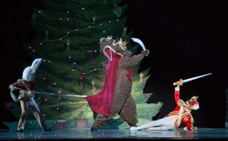 "Oregon Ballet Theatre dancers in ""George Balanchine's 'The Nutcracker'"" Photo by James McGrew"