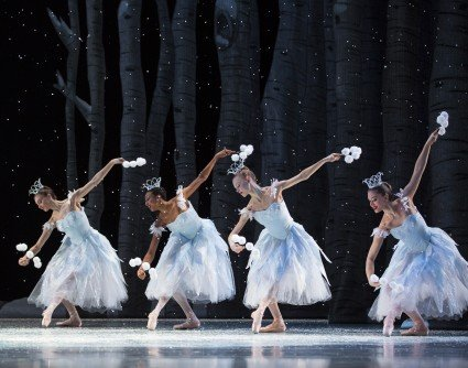 "Pacific Northwest Ballet dancers in ""George Balanchine's 'The Nutcracker'"" Photo Angela Sterling"