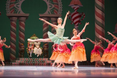 """Pacific Northwest Ballet dancer Noelani Pantastico and PNB dancers in """"George Balanchine's 'The Nutcracker'"""" Photo Angela Sterling"""
