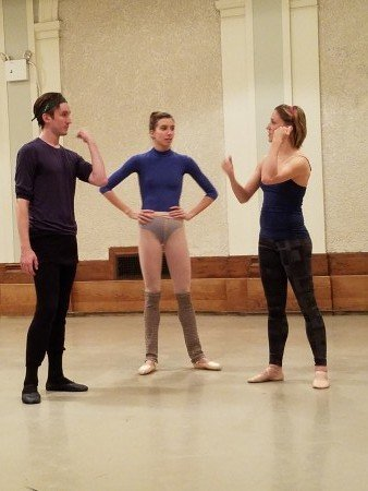 Devin Alberda, Ashley Hod, and Ashley Bouder at YAGP Special Program Ashley Bouder: Behind the Scenes Photo Jerry Hochman