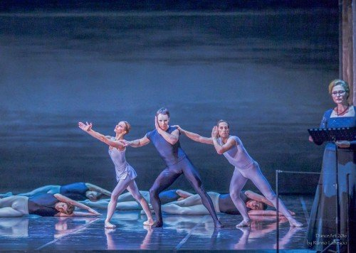 "Estonian National Ballet ""Song of the Earth"" Luana Georg, Oliver Jahelka, Sergei Upkin, Helen Lepalaan Photo: Rünno Lahesoo"