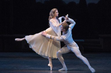 "Sterling Hyltin and Chase Finlay  of New York City Ballet in George Balanchine's ""La Sonnambula""        Photo by Paul Kolnik"