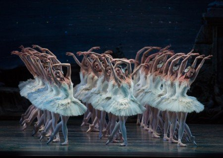 "American Ballet Theatre dancers in a prior performance of ""Swan Lake"" Photo by Rosalie O'Connor"