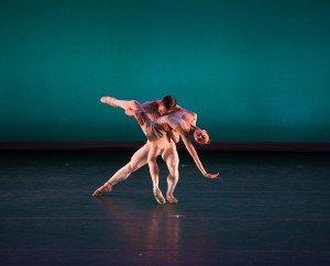"Sae Maeda and Albjon Gjorllaku, graduates of the Royal Ballet School, in Liam Scarlett's ""New Scarlett"" Photo by Rosalie O'Connor"