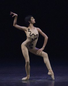 "Lauren Lovette of New York City Ballet in Jerome Robbins's ""The Cage"" Credit by Paul Kolnik"