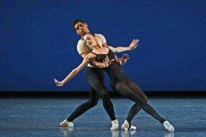 "Maria Kowroski and Amar Ramasar of New York City Ballet in George Balanchine's ""Stravinsky Violin Concerto"" Photo by Paul Kolnik"