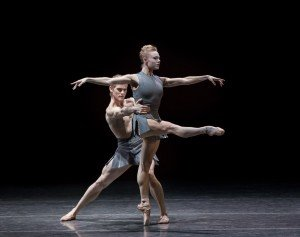 "Sara Mearns and Chase Finlay  of New York City Ballet  in Pontus Lidberg's ""The Shimmering Asphalt"" Photo by Paul Kolnik"
