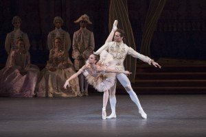 "New York City Ballet dancers Lauren Lovette and Gonzalo Garcia in Peter Martins's ""The Sleeping Beauty"" Photo by Paul Kolnik"