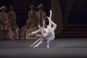 "New York City Ballet dancers Megan Fairchild and Joaquin De Luz in Peter Martins's ""The Sleeping Beauty"" Photo by Paul Kolnik"