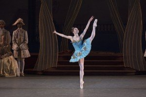 "New York City Ballet dancer Megan Fairchild in Peter Martins's ""The Sleeping Beauty"" Photo by Paul Kolnik"