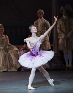 "New York City Ballet dancer Miriam Miller in Peter Martins's ""The Sleeping Beauty"" Photo by Paul Kolnik"