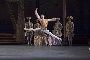 "New York City Ballet dancer  Russell Janzen in  Peter Martins's ""The Sleeping Beauty"" Photo by Paul Kolnik"