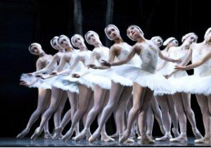 "Oregon Ballet Theatre dancers in Kevin Irving's adaptation of ""Swan Lake"" Photo by Randall Milstein."