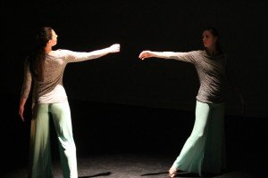 "Vanessa Ferranti and Rachel Russell  of Six Degrees Dance  in ""Infinite Reflection"" Photo by Rebecca Bitner"