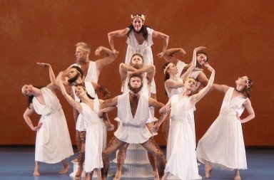 "Members of Paul Taylor Dance Company  in ""Ab Ovo Usque Ad Mala  (From Soup to Nuts)""      Photo by Paul B. Goode"
