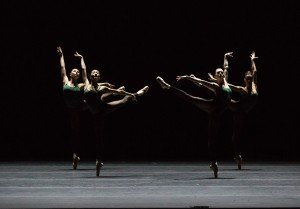 "Boston Ballet dancers in William Forsythe's ""Artifact"" Photo by Rosalie O'Connor"