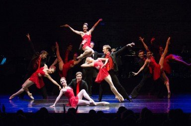 "Ashley Bouder and AB Project dancers  in Susan Stroman's ""Blossom Got Kissed""    Photo by Diana Mino"