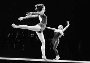 "Ashley Bouder and Sara Mearns in Liz Gerring's ""Duet"" Photo by Diana Mino"