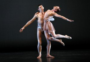 "Heather McGinley and Sean Mahoney of the Paul Taylor Dance Company in Lila York's ""Continuum"" Photo by Paul B. Goode"