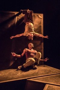 "Dickson Mbi and Tommy Franzen in ""The Wall (The Rodin Project)"" Photo: Johan Persson"