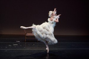 "New York Theatre Ballet dancer Elena Zahlmann in Sir Frederick Ashton's ""La Chatte Metamophosee En Femme"" Photo by Rachel Neville"
