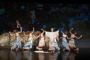 """New York Theatre Ballet dancers in Vaslav Nijinsky's """"L'Apres-Midi D'un Faune"""" Photo by Rachel Neville"""