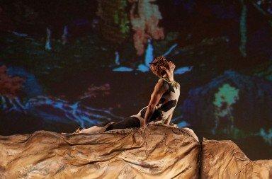 "New York Theatre Ballet dancer  Steven Melendez  in Vaslav Nijinsky's  ""L'Apres-Midi D'un Faune""      Photo by Rachel Neville"