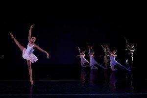 """New York Theatre Ballet dancers in Antonia Franceschi's """"She Holds Out Her Hand"""" Photo by Rachel Neville"""