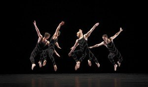 "Paul Taylor Dance Company members in ""Promethean Fire"" Photo by Paul B. Goode"