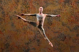 "Lyon Opera Ballet member Tyler Galster in Merce Cunningham's ""Summerspace"" Photo by Paul B. Goode"